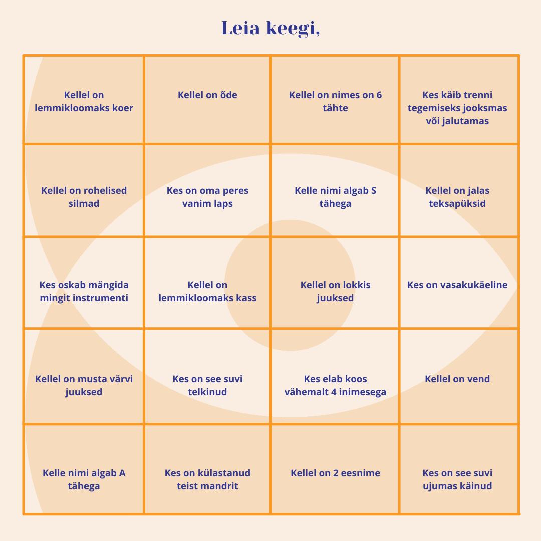 Mängime Bingot
